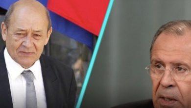 Photo of متطرقين إلى تداعيات وباء كورونا.. لافروف يبحث مع نظيره الفرنسي مستجدات الأوضاع في ليبيا