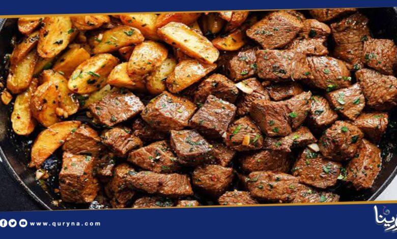 Photo of طريقة تحضير مكعبات ستيك اللحم بالزبدة