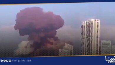 Photo of فيديو يسجل اللحظات الأولى لكارثة تفجير بيروت