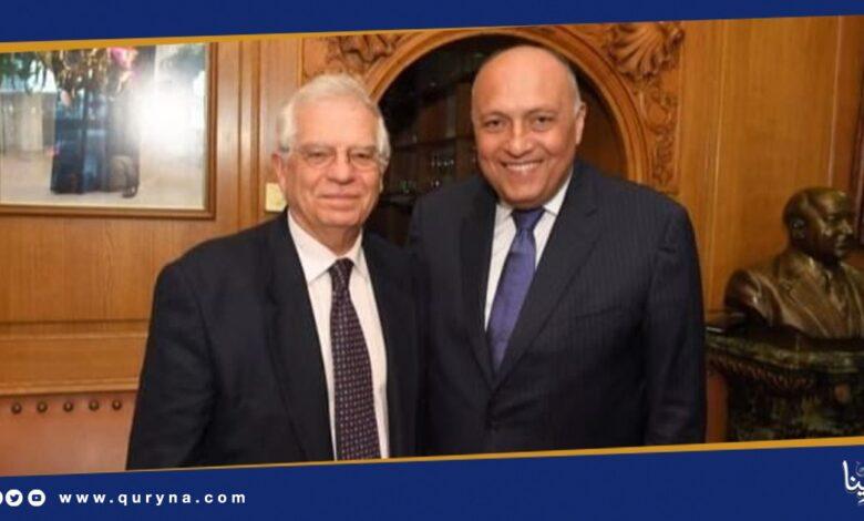 Photo of وزير الخارجية المصري يلتقي بوريل لبحث الملف الليبي