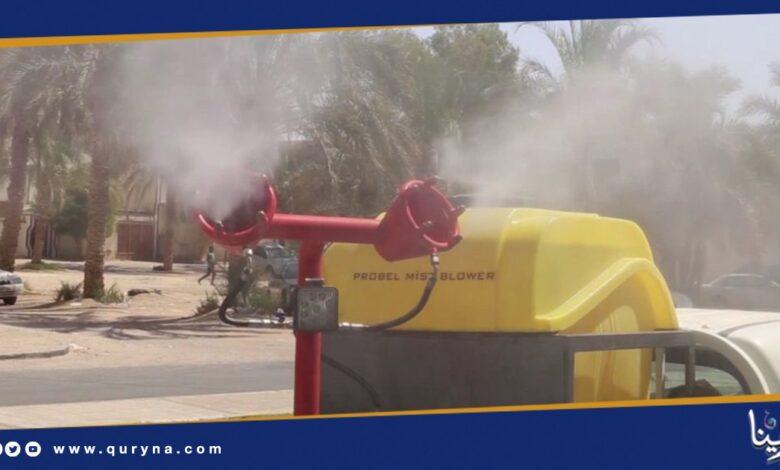 Photo of حملة لتعقيم الشوارع بالجفرة