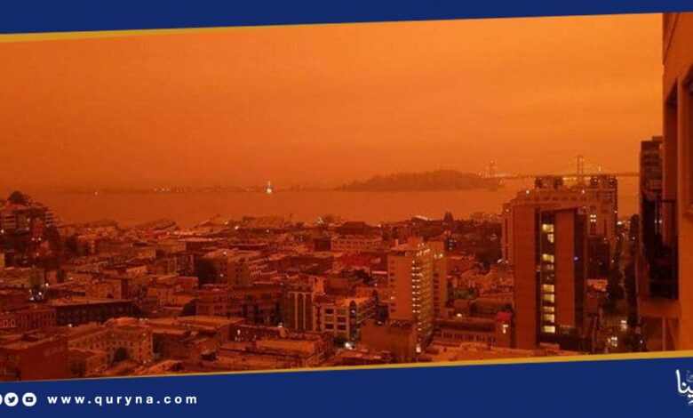 "Photo of ""السماء الحمراء"" تكسو كاليفورنيا"