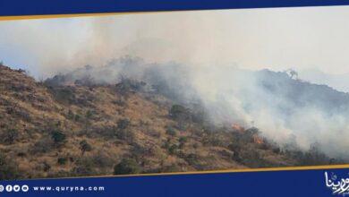Photo of السعودية : إخماد حريق في جبل عمد بالطائف