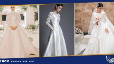 Photo of فساتين زفاف من الستان موضة 2020