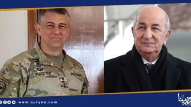 Photo of الرئيس الجزائري يبحث مع قائد أفريكوم مستجدات الملف الليبي