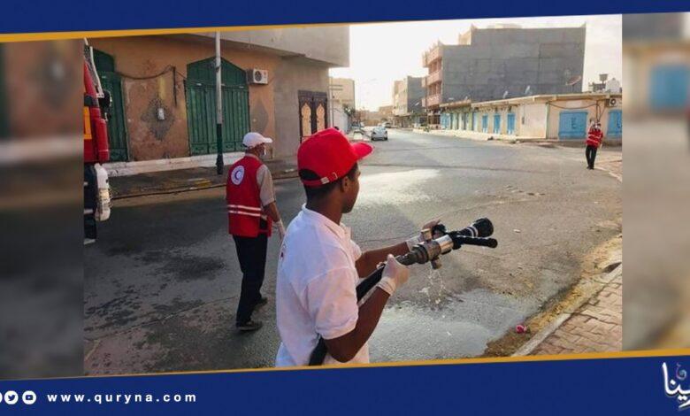 Photo of حملة تعقيم تجوب شوارع غدامس