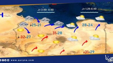 Photo of الأرصاد : سقوط أمطار متفرقة على مناطق الشمال الغربي