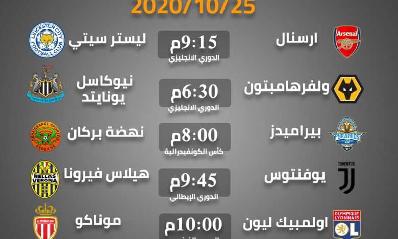 Photo of أهم مباريات الغد