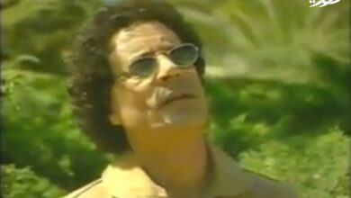 Photo of مقابلة نادرة جدا للقائد الشهيد معمر القذافي بعد الغارة الأمريكية علي بيته عام 1986