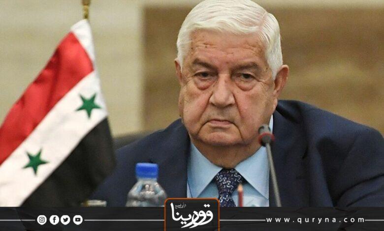 Photo of وفاة وزير الخارجية السوري