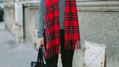 Photo of أفكار لارتداء الشال الكاروهات مع ملابسك الشتوية