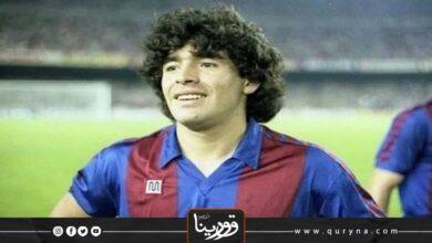 Photo of برشلونة ينكس أعلامه حداداً على وفاة مارادونا