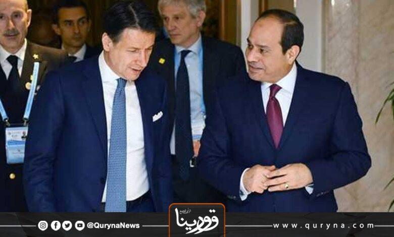 Photo of السيسي يبحث مستجدات الأوضاع في ليبيا مع رئيس وزراء إيطاليا