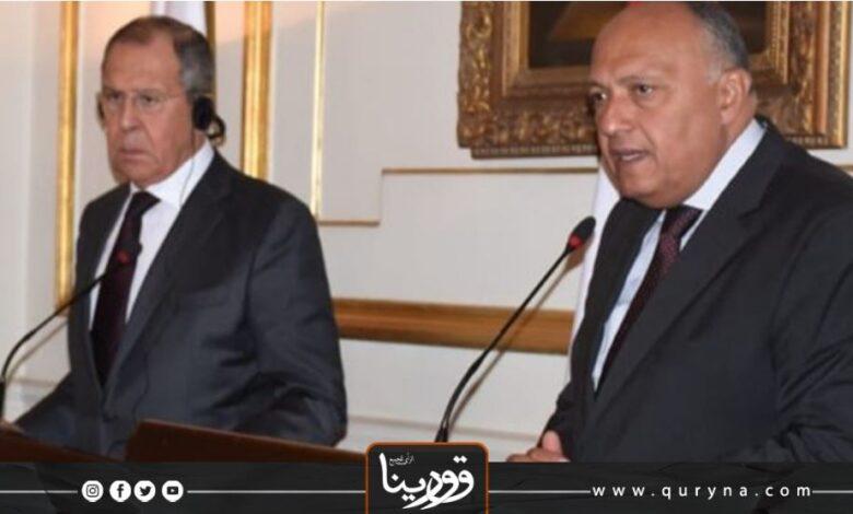 Photo of مصر وروسيا تؤكدان على ضرورة حل الأزمة الليبية