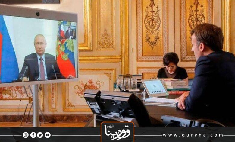 Photo of بوتن وماكرون يؤكدان على ضرورة وقف إطلاق النار في ليبيا