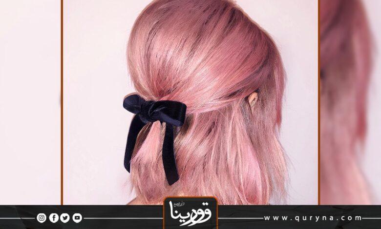 Photo of بالفيديو- استخدام ذيل الحصان بتسريحات للشعر القصير