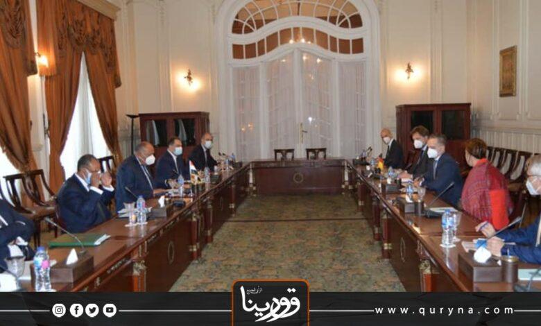 Photo of وزيرا الخارجية المصري والألماني يبحثان الأوضاع في ليبيا