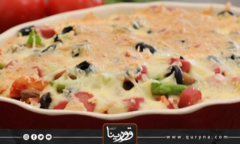 Photo of بيتزا باستا سريعة لغداء مميز