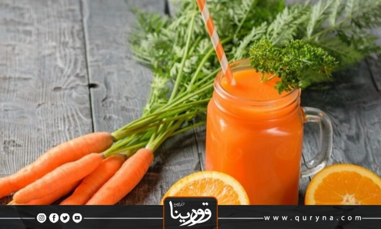 Photo of ديتوكس البرتقال مع الجزر والزنجبيل