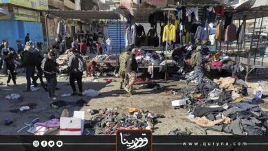 Photo of تفجيران انتحاريان وسط بغداد