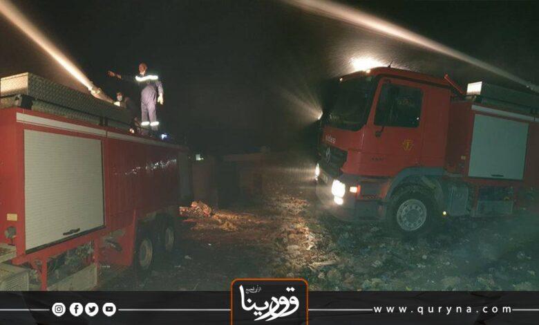 Photo of السيطرة على حريق شب بمحطة جنوب طرابلس