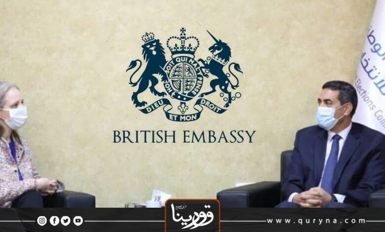 Photo of السفارة البريطانية تؤكد دعمها للانتخابات القادمة في ليبيا