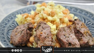 Photo of الأرز باللحم والحمص