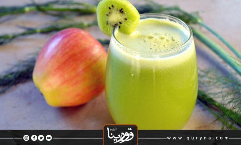 Photo of ديتوكس الكيوي والتفاح