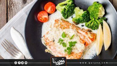 Photo of سمك السلمون بالكريمة بالفرن