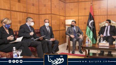 """Photo of سفير الاتحاد الأوروبي لدى ليبيا يؤكد لـ """"المنفي"""" على دعمه الكامل لخارطة الطريق وصولاً للانتخابات"""