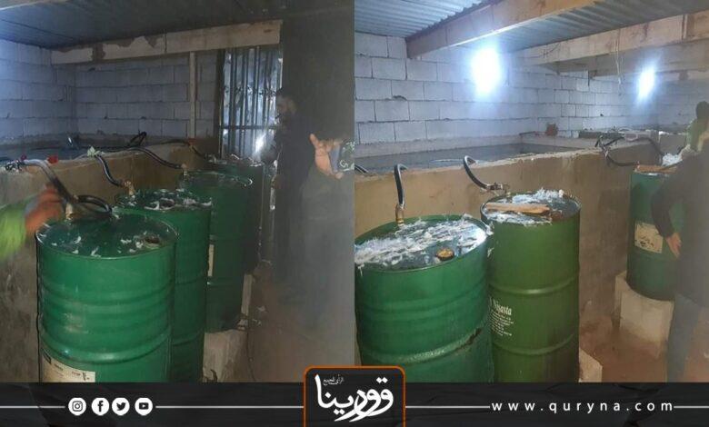 Photo of بنغازي : ضبط 150 ألف لتر من الخمور