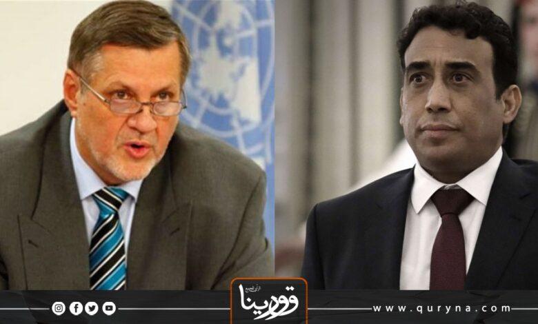 Photo of المنفي و كوبيش يبحثان مستجدات الأوضاع في ليبيا