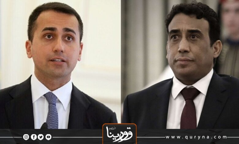 Photo of دي مايو يؤكد للمنفي دعم بلاده للحل السياسي في ليبيا