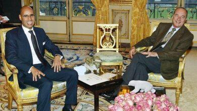 Photo of الدكتور المهندس سيف الاسلام معمر القذافي والرئيس الفرنسي الأسبق جاك شيراك