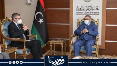 "Photo of خلال لقائه سفيرَ الاتحاد الأوروبى لدى ليبيا.. ""المشرى"" يناقش خطوات الانتهاء من المراحل الانتقالية وإجراء الانتخابات"