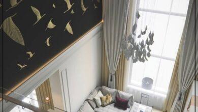 """Photo of """"قورينا"""" اختارت لكم تصميم لغرفة معيشة يتميز بالفخامة والإبداع في الديكورات"""