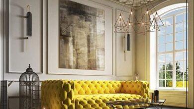 "Photo of ""قورينا"" اختارت لكم تصميم لغرفة معيشة كلاسيكية تضمن لك الراحة والهدوء"