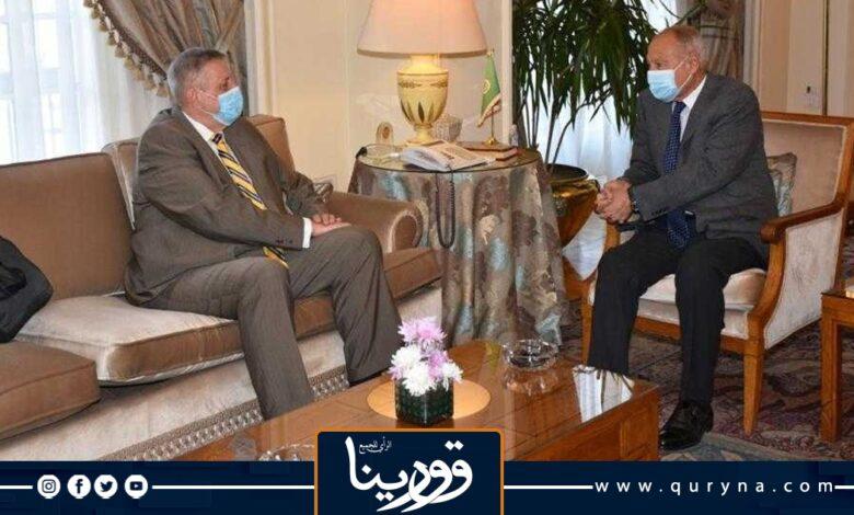 Photo of أبو الغيط وكوبيش يبحثان دور الجامعة الداعم لمسار التسوية في ليبيا وإجراء الانتخابات في 24 ديسمبر المقبل