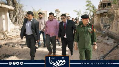 Photo of المنفي يتفقد المناطق المدمرة بمدينة سرت
