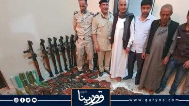 Photo of ضبط كمية كبيرة من الأسلحة والذخائر بطبرق