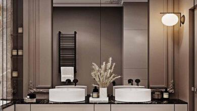 """Photo of """"قورينا"""" أختارت لكم مجموعة من التصميمات المميزة لحمامات مودرن"""