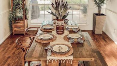 Photo of قورينا اختارت لكم غرفة طعام ذات طابع بوهيمي بتصميم أنيق