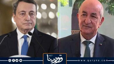 Photo of الرئيس الجزائري يبحث مع رئيس الوزراء الإيطالي هاتفيا الوضع في ليبيا