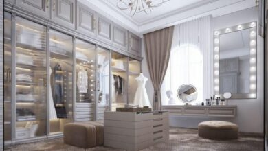 "Photo of ""قورينا"" أختارت لكم مجموعة من التصاميم المميزة لغرفة خلع الملابس"