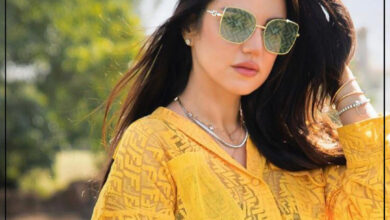 "Photo of ""الفنانة التونسية درة"" في أحدث إطلالتها تتألق باللون الأصفر"