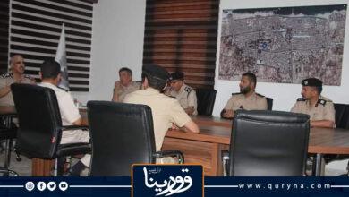 Photo of مديرية أمن سرت تناقش الخطة الأمنية الخاصة بتأمين جلسة (5+5)