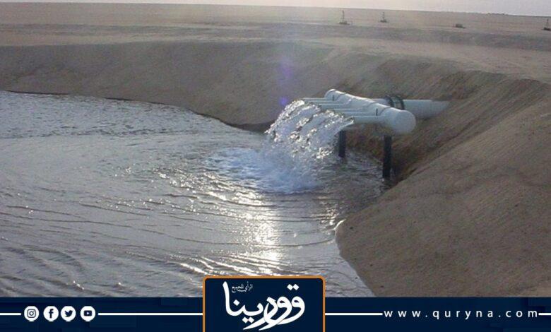 Photo of إهدار مليون وربع لتر مكعب من مياه النهر الصناعي نتيجة العطب بخط «تازربو بنغازي»
