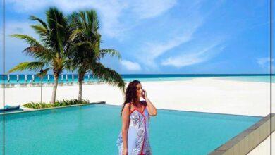 """Photo of الفنانة التونسية """"درة"""" تشارك متابعيها احدث صور لها من المالديف عبر الأنستجرام"""