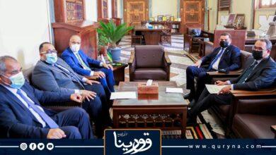 """Photo of """"الدبيبة"""" و""""الكبير"""" يبحثان دعم قطاعي الكهرباء والنفط"""