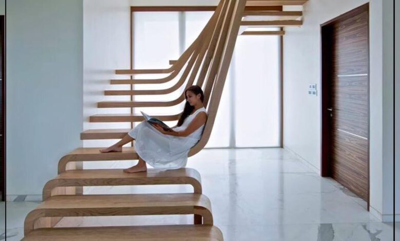 "Photo of ""قورينا"" أختارت لكم مجموعة أفكار لسلالم منزلية داخلية"